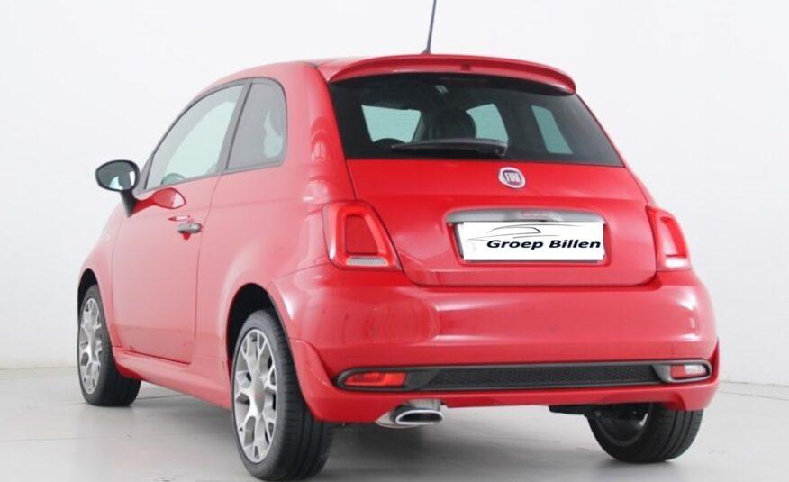 FIAT 500 SPORT DUALOGIC 1200i 70pk – CLIMATRONIC – 1/2 LEDER – 16″ ALU – PARK ASS